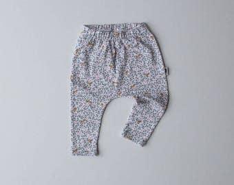 Stretchy Baby Leggings / Baby Pants / Harem Leggings - Fleet Foxes - READY TO SHIP by Little Dreamer