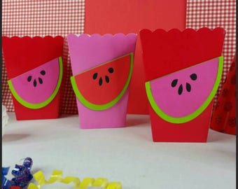 10 Watermelon/Summer Party Snack or Favor Boxes