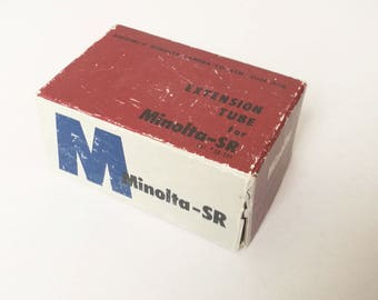 Vintage Minolta Mount SLR Camera Extension Tube Kit