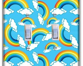 Rainbows Light Switch Plate Cover Decor Kid Room Nursery Decor Baby Boy Girl Nursery Decoration