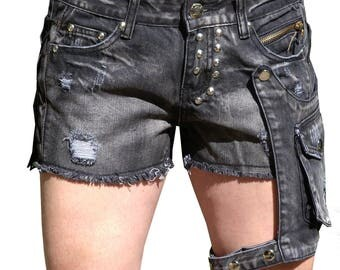 Sexy lady shorts with holster leg bag