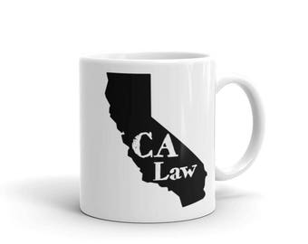 Coffee Mug - California - Attorney Gifts - Lawyer Gifts - Law Firm Gifts - Law School Graduation Gift - Birthday Gift