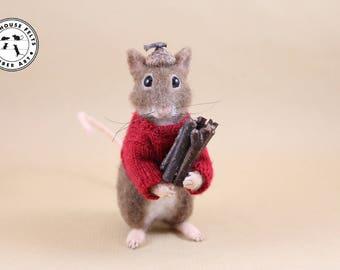 Needle Felted Mouse - Needle felted mice - Felted mouse - Handmade - Ready to Ship!