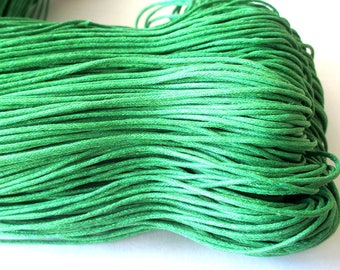 5 Metters green cotton waxed 1.5 mm