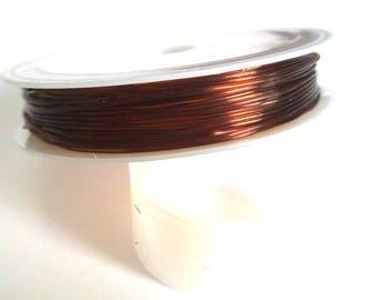 1 reel of 7.50 m Brown 0.8 mm elastic Crystal thread