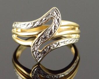 10k Zig Zag Free Form Ring Gold