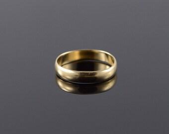 14k 4mm Plain Wedding Band Ring Gold