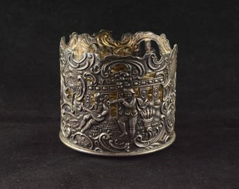 Brand-Hier Co. Ornate Figural Sleeve w/ Scroll Design #5187  Sterling Silver