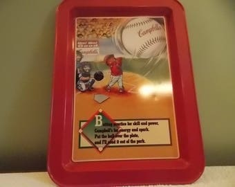 Campbell's Soup metal baseball tray collectors