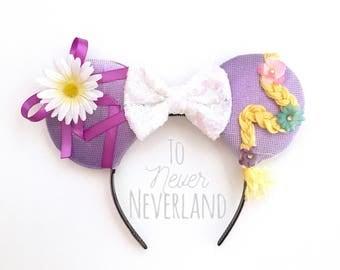 Tangled Disney inspired Ears, Rapunzel Ears, Tangled Mickey Ears, Disney inspired Tangled Ears,  Disney Ears, PRE-ORDER