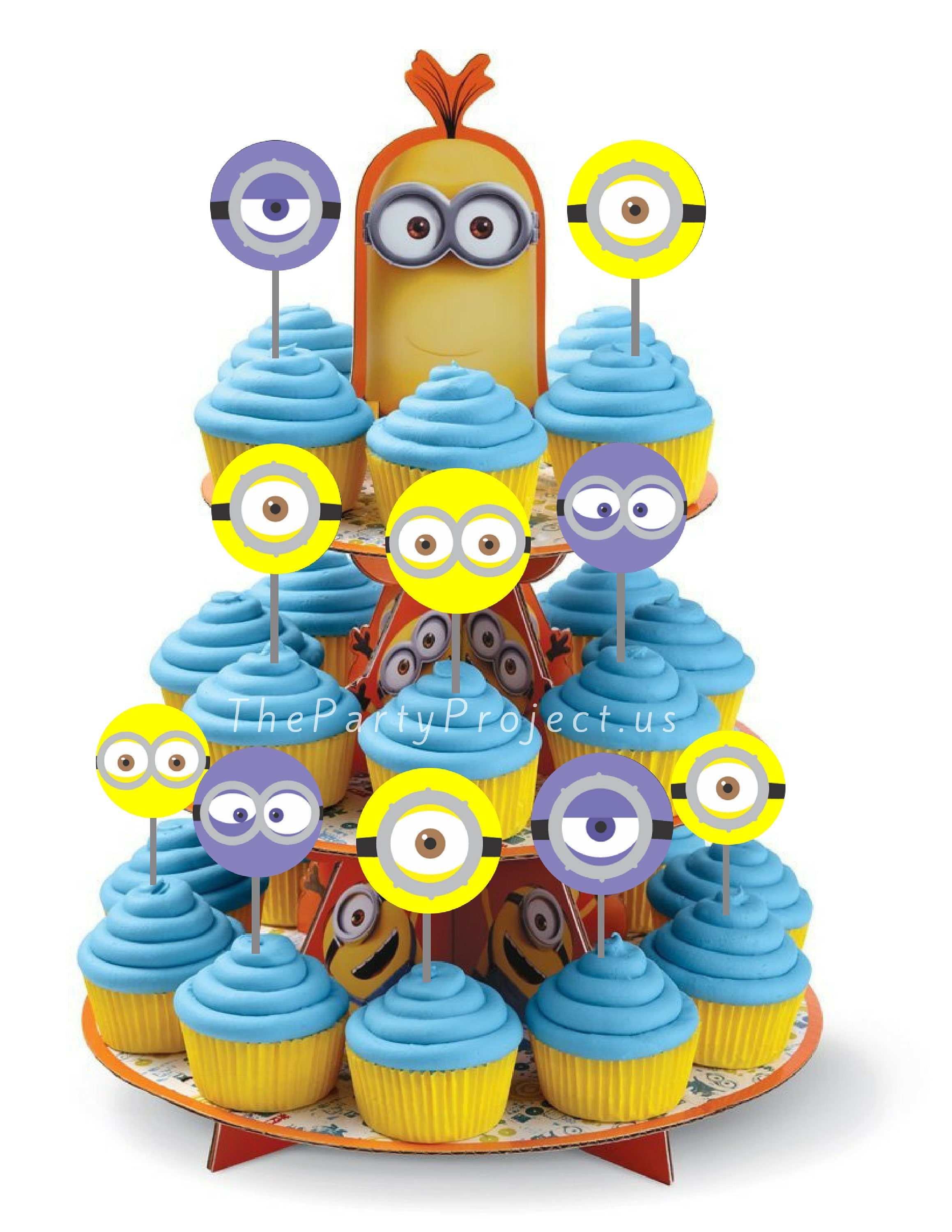DIY PRINTABLE Minions Cupcake Toppers Despicable me theme