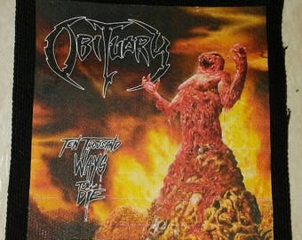 Obituary hand made sew on patch