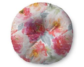 Watercolor Flowers - floor pillow