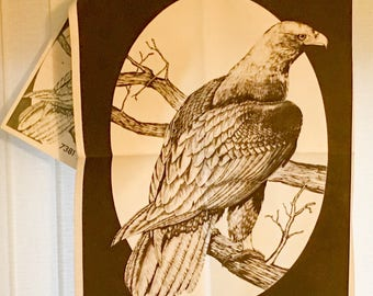 """Tri Chem Pictures To Paint Paint By Numbers Velvet 7381 Golden Eagle Bird Sitting Perched On Tree Branch 18 """" x 24 """" Man Cave"""