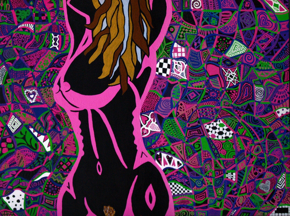 Large Psychedelic Nude by CRD Larson