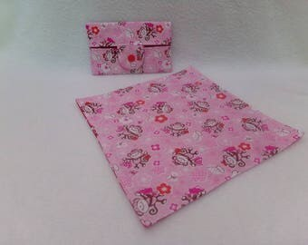 Case and matching handkerchief pattern monkeys