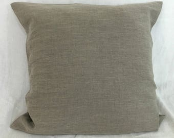 On Sale 50% Off, One Dark Linen Euro Sham Cover 26x26-Ready to Ship