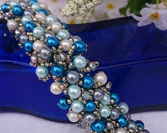 Blue Bubble Cuff