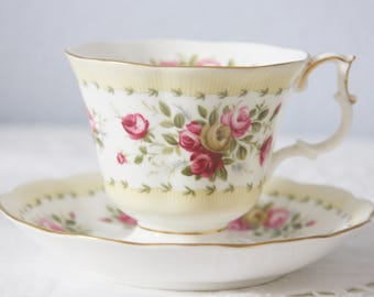 Beautiful Vintage Royal Albert Gainsborough Cup and Saucer,  Gaiety Series 'Gavotte', England