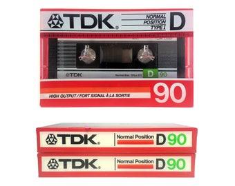 Lot of 2 TDK D 90 Blank Audio Cassette Japan New Sealed NOS 1982