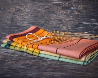 3 Linen Tea Towels, Colorful Linen Kitchen Towels, Eco Kitchen Towels, Linen Gift