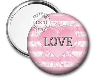 50 mm Pocket mirror love REF:1084