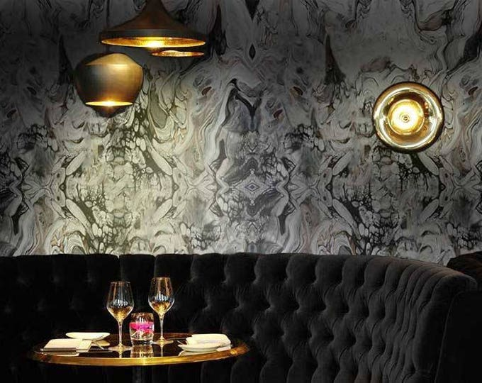 Gothic Marble Wallpaper - Black Marble wallpaper - Marble Effect Wallpaper
