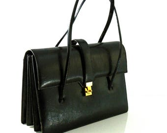 1960's double lizard leather bag