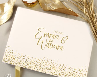 Personalized Real Gold Foil Silver Foil Confetti Wedding Guest Book