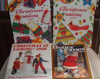 Christmas With SouthernLiving-2 Books Recipes CraftsTraditions-1 Holiday Projects  Children and Adults- Dec 94 30 Recipes Santa Magazine