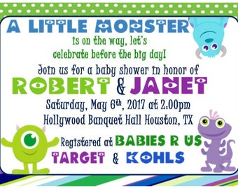 Monsters Inc Baby Shower Invitation (Printable)