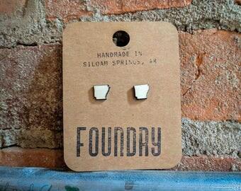 Arkansas Wood Stud Earrings