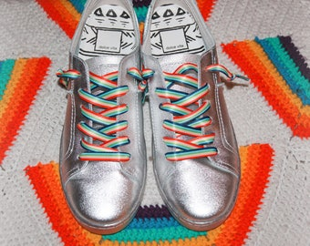 Rainbow Rabbit laces
