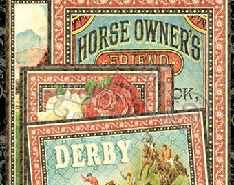 Graphic 45-Off To The Races Ephemera Journaling Cards
