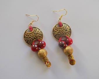 Earring dangle royal color