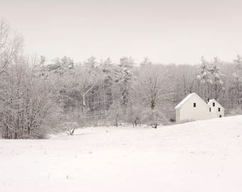 Silent Meadow | Snowy Field at the Robert Frost Farm Photography Color Print | 11x14, 8x10 & 4x6 (Custom Sizes Available Upon Request)