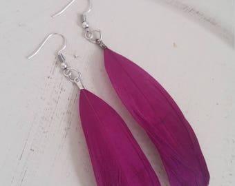 Purple earrings,handmade ,boho style,love it, gift for her!