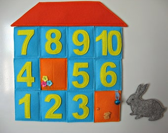 Felt Magnets  Numbers -  Colorful Felt Numbers  -Fridge Magnets For a child over 2 years old  - Kitchen decor - Educational  Toddler Toy