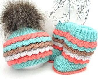 Baby Girl Hat Baby Girl Shoes Newborn Girl Outfit Baby Shower Baby Gift Newborn Photo Prop Baby Girl Gift Crochet Baby Set Infant Beanie