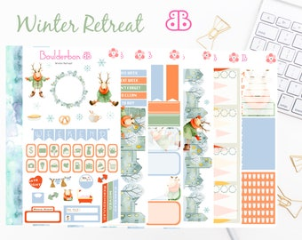 Winter Retreat | Planner Stickers | Weekly Planner Sticker Set, Winter Sticker Set, Christmas Stickers