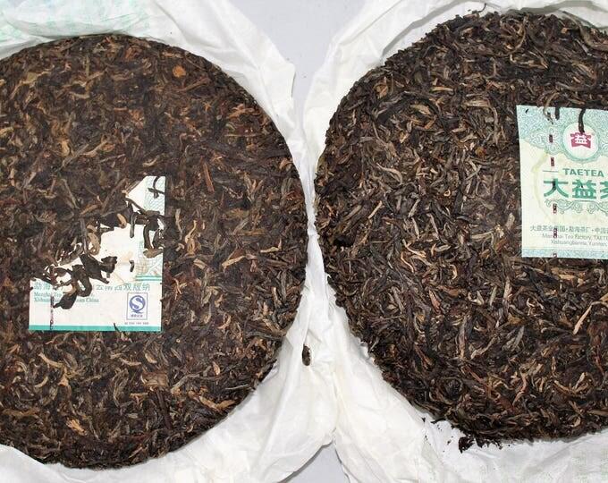 2006 & 2012 Dayi Spring of Menghai Sampler