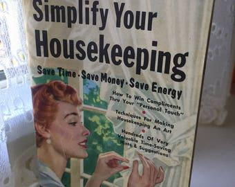 "SHIPS FREE!  Bonomo Handy Pocket Manual ""Simplify Your Housekeeping"""