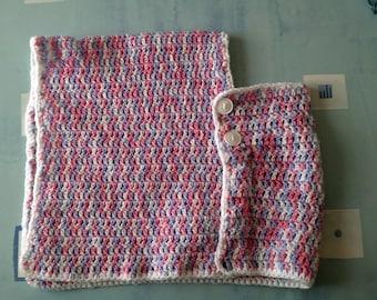 Little girl 1 year crochet poncho