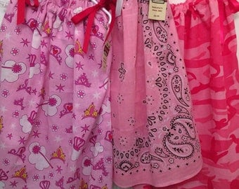 Girls Bandana Swing Dress or Blouse