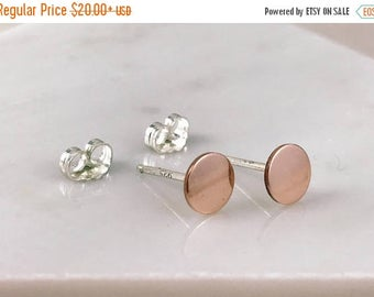 CHRISTMAS IN JULY 14k rose gold earrings | 14k rose gold studs | simple earrings | popular earrings | unique gift | rose gold filled studs