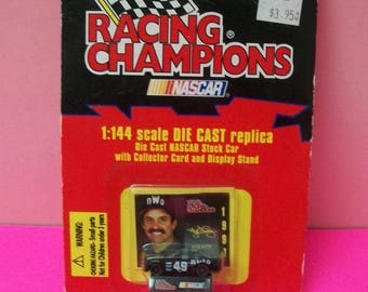 1997 NWO Wrestling Kyle Petty Collectible Diecast Mini Car #49 1/144 Scale NASCAR Diecast Car New On  Card By Racing Champions