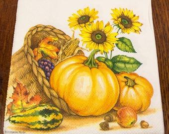 Decoupage napkin paper napkins kitchen harvest sunflower pumpkin scrapbooking paper craf decoupage napkins