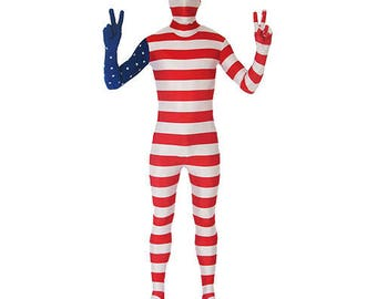 Full Body Spandex/Lycra Suit - World Flag Design (USA,UK,England,Argentina,Spain,Brazil,France,Germany,Mexico,Italy)