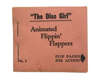 """Animated Flippin' Flappers No. 5: """"The Disc Girl"""" [ca. 1940-1950] - First Edition"""