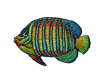 Fish Embroidered Applique Iron on Patch